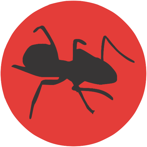 Ant-dark-on-red-circle-bg
