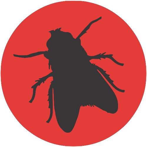 Fly-dark-on-red-circle-bg