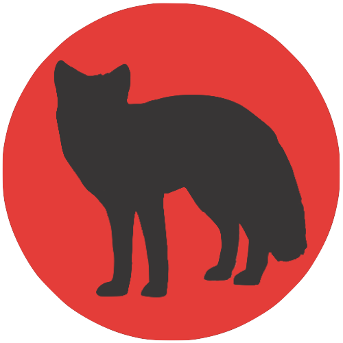 Fox-dark-on-red-circle