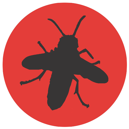 Wasp-on-red-circle-dark